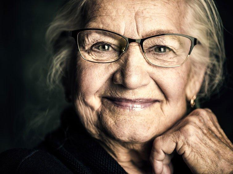 Werden wir älter, wird das Gesicht asymmetrischer