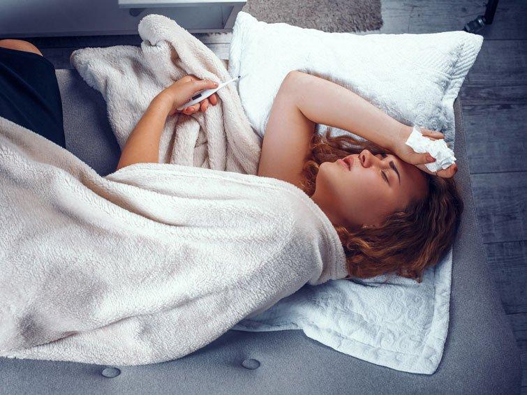 Fieber: Ist es die Grippe oder eine Erkältung?