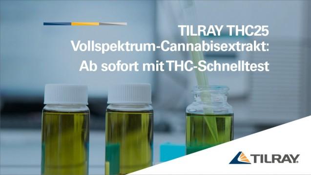 Auslieferung ab sofort mit validiertem THC-Schnelltest