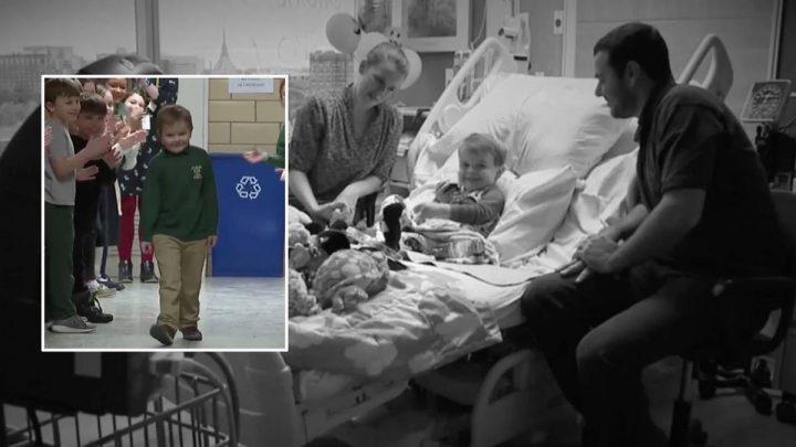 Sechsjähriger verbringt sein halbes Leben im Krankenhaus – so berührend feiern ihn seine Mitschüler am ersten Schultag